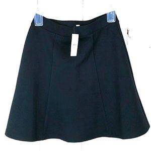 LOFT Navy Blue Elastic Waist  Skater Skirt